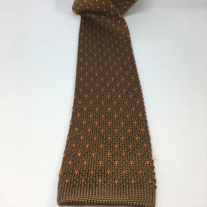 Friday Tieday 100% Silk Bronze Knit Tie